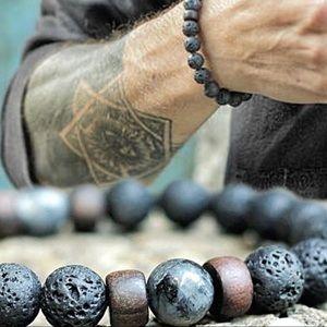 Jewelry - Natural Lava Rock Healing Energy Yoga Bracelet